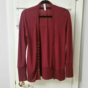 Wine Colored Cardigan